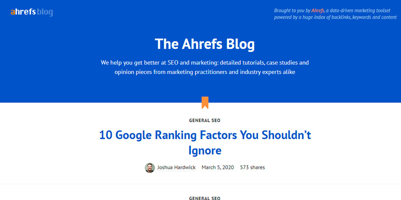 ahrefs digital marketing blogs