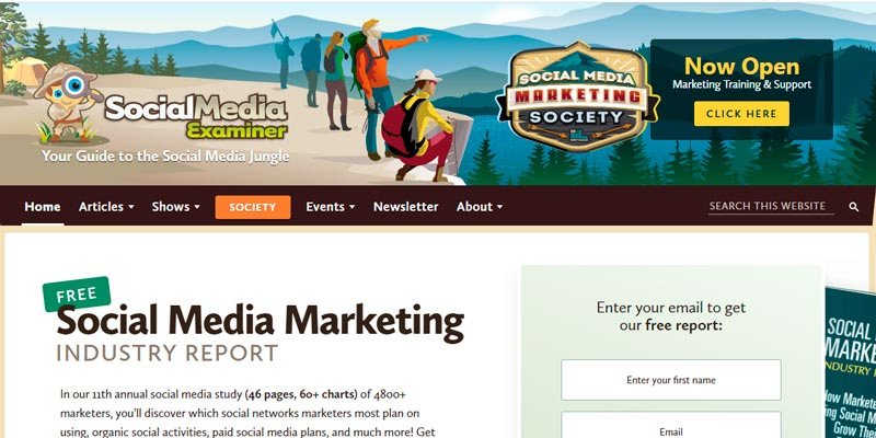 socialmediaexaminer digital marketing blog
